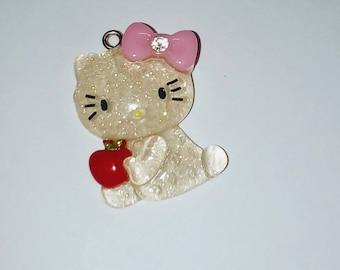 Cat 1 X translucent glitter kawaii 30mm
