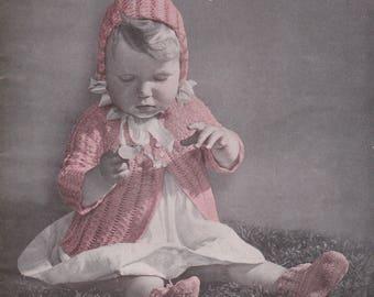 Crochet Booklet Lovely Creations for Baby Sultana Beautysheen 516 Vintage 1942 Toddler Childrens