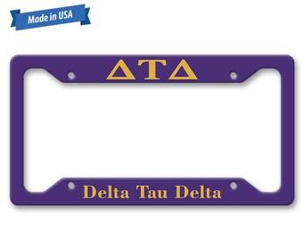 Delta Tau Delta License Plate Frame - Personalized Fraternity Auto Tag LP1244