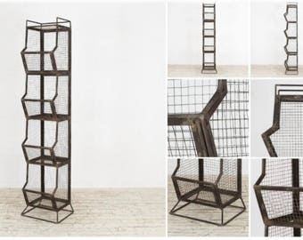 Industrial Factory Wire Metal Mesh Shelf Unit