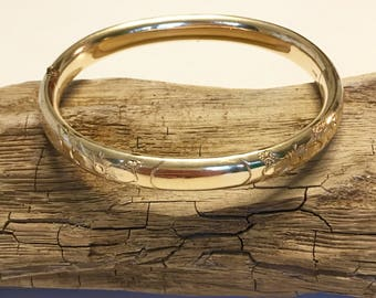 Hand-Engraved 12k GF Bangle