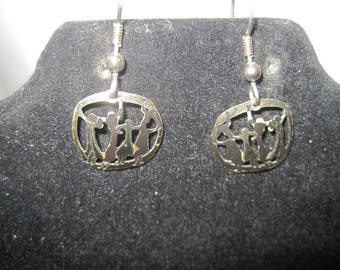 Gold Tone Dancing Ladies with Black Accent