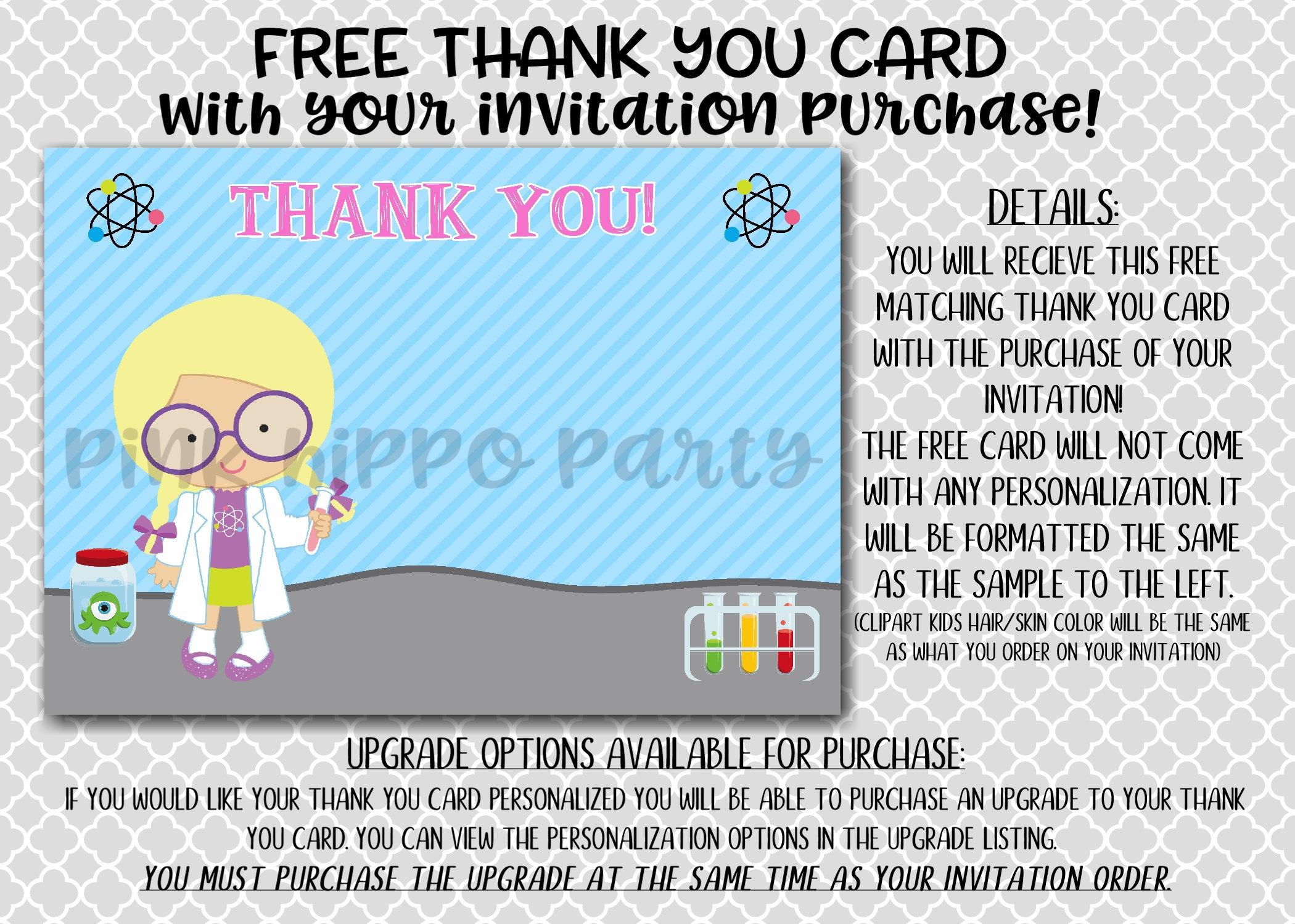 Science Chemistry, Scientist Girl:Design #060-Children\'s Birthday ...