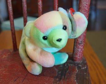 TY Beanie Babies SAMMY the Tied-Dyed Bear (after Sammy Sosa)