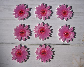 Beautiful pink flower - 4 pi§ces wooden button