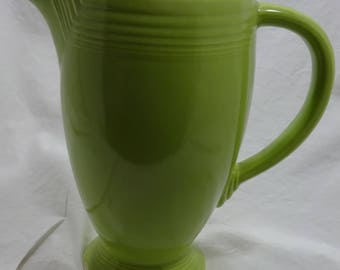 Tall Fiestaware Coffee Pot without Lid - Chartreuse - Original - Authentic -  Several Chips and a Large Skip on One Side - Art Deco