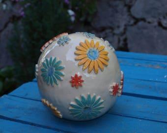 Garden ceramic ball
