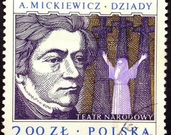 A. Mickiewicz, Polish poet, dramatist, Dziady -Handmade Framed Postage Stamp Art 22447AM