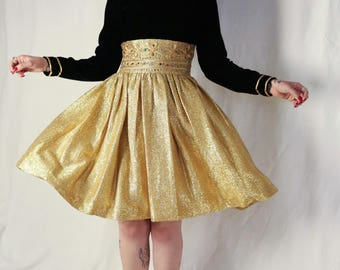1960s evening gown gold brocade gold bullion gold lame rayon velvet