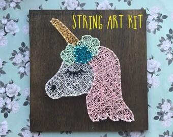 Unicorn String Art Kit, Nursery Decor, Unicorn Decor, Unicorn Gift, Unicorn Art