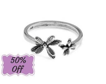 Flower Ring, Open Ring, Adjustable Ring, Dainty Ring, Casual Ring, Everyday Ring, Silver Ring For Women, Best Gifts For Women, Gifts For Her
