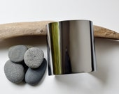 Petite Metal Cuff, Stainless Steel, Silver, bracelet, Handmade, Mirror Finish