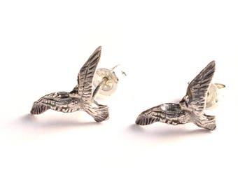 Eagle flying 925 sterling silver Stud Earrings