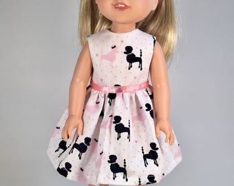 14.5 inch Doll Clothes / Doll Dress / French Poodles