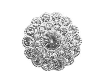 Flower diamond rhinestone button
