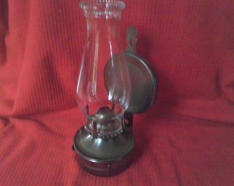 Vintage Oil hurricane Lamp, Wall mount .  vintage lighting, Oil lamp, emergency light