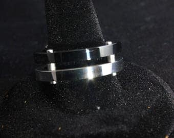 Titanium and Steel ring