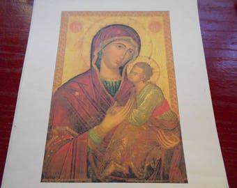 Cross stitch icon Theotokos Virgin Amolyntos pattern