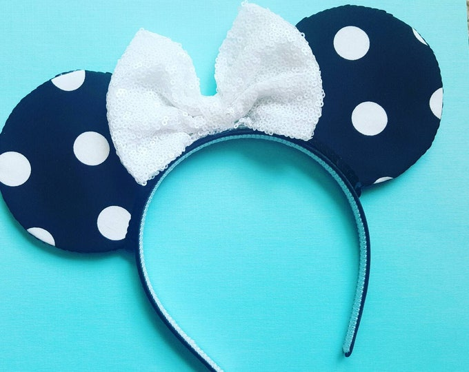 Minnie Mouse || Mouse Ears || Minnie Ears || Polka Dot Ears || Mouse Ears Headband || Minnie Mouse Ears || Sparkle Mouse Ears || RTS