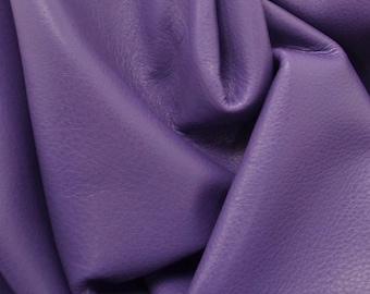 """Leather Cow hide side 31 sf Graceful Pansy Purple """"Signature"""" 2 1/2-3 oz flat grain DE-58557 (Sec. 9,Shelf 2,A)"""