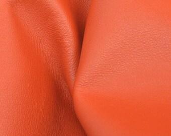 "Billowy Burnt Orange ""Signature"" Leather Cow Hide 4"" x 6"" Pre-cut 2-3 oz DE-60529 (Sec. 8,Shelf 6,C,Box 1)"