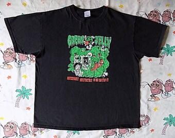 Vintage 90's Green Jellÿ T shirt, size XL comedy rock Satirical funny