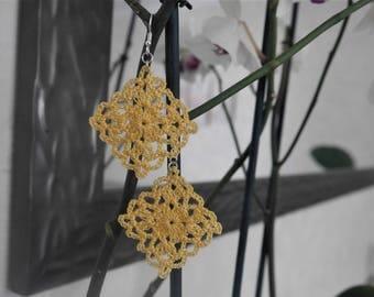 YELLOW corn earrings