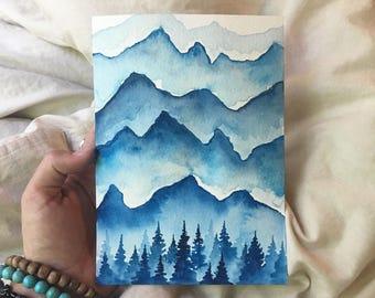 Nature's Blues - Original Watercolor Painting