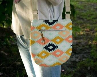 Crossbody Bag, Sling Tote, Aztec Tote, Southwest Bag, Small Purse