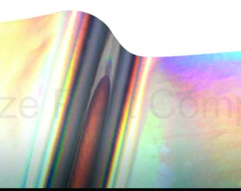 Silver oil slick RTape VinylEfx Brite Overall outdoor iridescent metalized vinyl sheet permanent adhesive rainbow opal 12x15 inch metallic