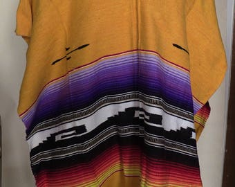 Authentic Mexican Poncho (multicolored)