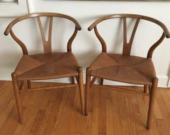 "Hans Wegner for Carl Hansen CH24 ""Wishbone"" chairs"