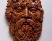 Green Man Wood Carving Wa...