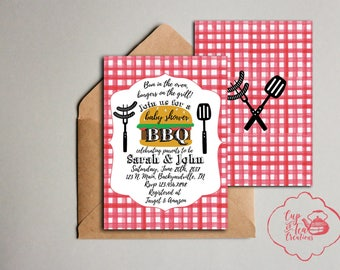 baby shower bbq invitation couples baby shower invitation coed baby shower invitation barbecue