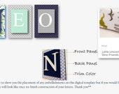 Letters for baby Theo
