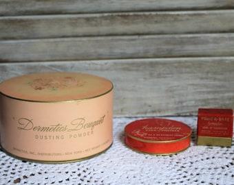Vintage. Powder. Makeup. Full of powder still! 1930s. Dermetics Bouquet. Hampden.