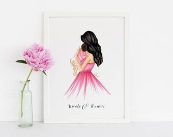 A Mother's Gift (Fashion Illustration Print option to add names)