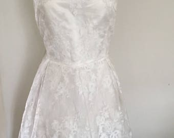 Vintage Lace Wedding Dress, Plus size Wedding Dress, Strapless Wedding Gown