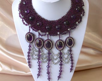 Elegant amethyst jewellery set