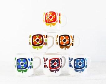 Arcopal France Milk Glass Mug Vintage, Coffee Mug, Mobil, Mugs for Him,Milkglass Mug, Coffee Cup,Vintage Mug, Mugs for Men, For ONE, Mug Set
