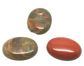 Destash lot 3 Cabochons gemstone 30 x 40