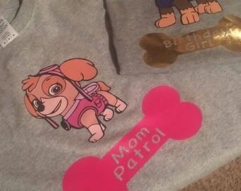 Paw Patrol Personalized Shirts
