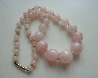 Art deco Czech glass beaded necklace