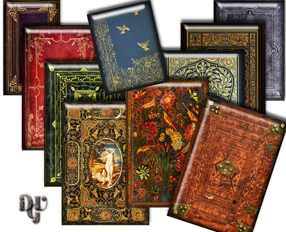 How To Make A Decorative Book Cover : Decorative book covers gilded cover digital