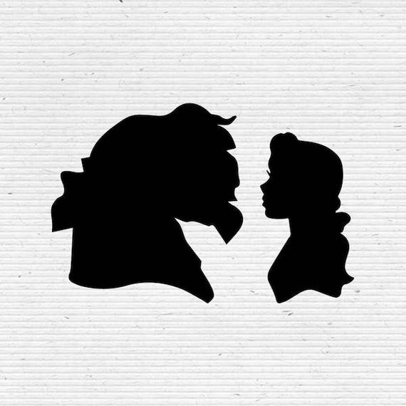 Belle In Beauty And The Beast Disney Silhouette Svg And Dxf