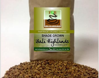 Shade-grown, Fair Trade Organic, BALI HIGHLANDS coffee, a delicious Indonesian gem. 2oz sampler is perfect for one pot of coffee