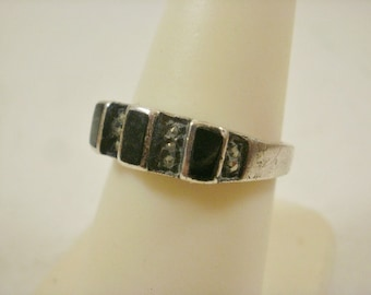 Retired Judith Jack Sterling Marcasite  Ring~8