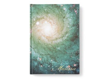 Universe Stars Personalized Journal, Modern Galaxy Pattern, Personalized Journals for Women, Gift jn0008