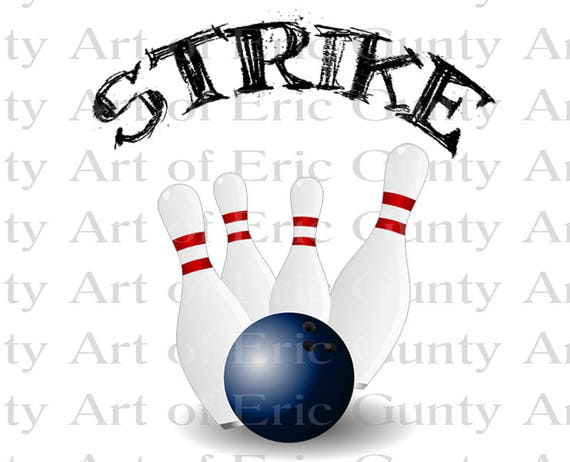 Bowling Strike Birthday - Edible Cake and Cupcake Topper For Birthday's and Parties! - D22672