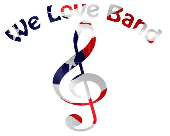 We Love Band Music Notes Patriotic Birthday - Edible Cake and Cupcake Topper For Birthday's and Parties! - D22708